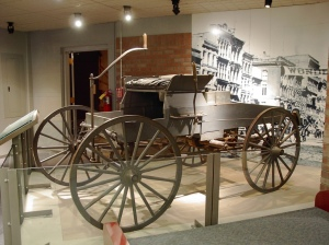 A replica of King's 1896 vehicle can be seen on display in our America's Motor City exhibit.