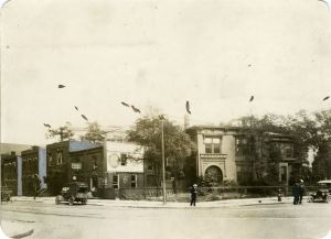 Southeast corner of Witherell Street and Adams Avenue, c. 1918.