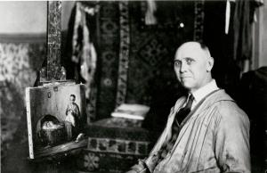 Charles Waltensperger in his studio, 1929.