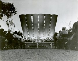 Leonard Smith Band performing at the Remick Bandshell on Belle Isle, 1953.