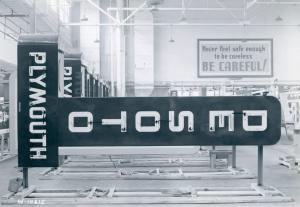 c. 1940, DeSoto dealership signs