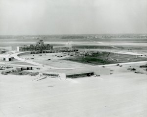 1959, Smith Terminal and American Airlines Airfreight terminal.