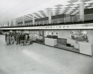 1959, Smith Terminal American Airlines ticket counter.