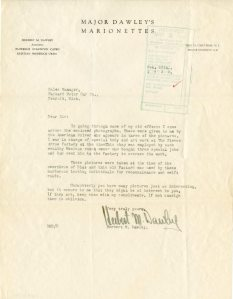 Letter from H.M. Dawley to Packard Sales Manager, 1932.