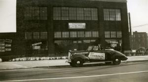 Santa Claus in a Packard, Hartford, CT. 1939.