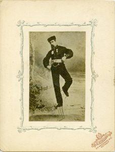 John Miner performing on his famous stilt-skates