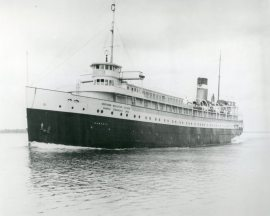 Passenger steamer, Hamonic, of the Northern Navigation Division of Canada Steamship Lines, c.1940