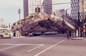 1961, the debris of Old City Hall.
