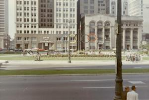 1964, view of the park displays the city's hope of hosting a Summer Olympic Games.