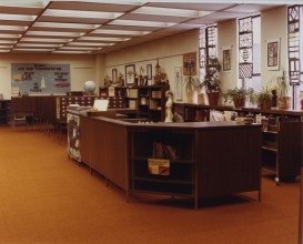 Media Center at Woodworth Junior High in Dearborn (Lewis, 1984)