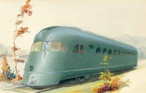 Pullman Railplane painting, 1933.