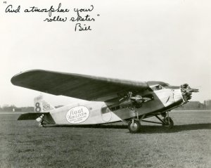 Stout Air Lines Ford-Tri-Motor airplane, signed by Bill Stout, c. 1930.