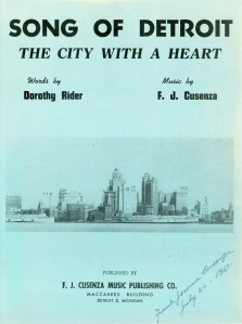 Song of Detroit, The City With a Heart, 1950