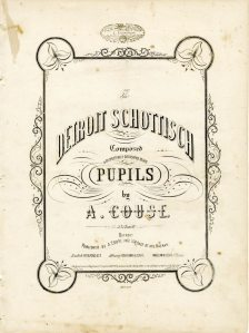 The Detroit Schottisch, 1854