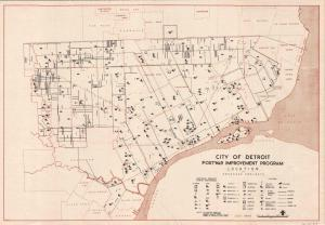 We typically think of urban renewal project happening in the 1950s and '60s, but in Detroit plans were already underway in 1944 for postwar improvements. It addresses everything from traffic engineering to swimming pools.