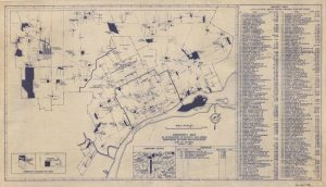 This 1948 map of Department of Parks and Recreation properties is unique in that it highlights properties renamed after Detroit's war heroes.