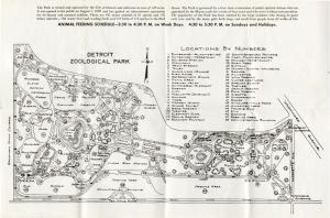 This handy map shows the Detroit Zoo circa 1947. The layout has many similarities to the zoo's current design almost 70 years later. Of note is the Beer Garden and Monkey Island.