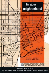 What could be more important than finding the nearest location to buy Sanders treats? The back cover of this circa 1965 menu offers plenty of options.