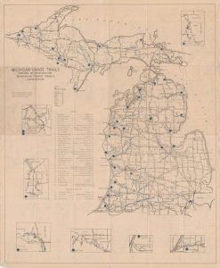 Grab a paddle! If it's 1946 and you need to find a place in Michigan to canoe than this map will be perfect.