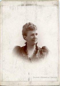 Cabinet card of Annette Alger, c. 1892.
