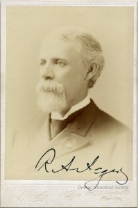 Autographed cabinet card of Russell Alger, c. 1900.