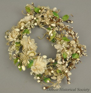 Annette Henry's floral bridal crown from her 1961 wedding to Russell Alger.