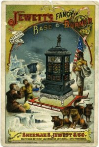 A card from the S.S. Jewett Company, designed by the Calvert Lithographing Company.