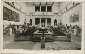 The Main Court at the DIA, c. 1929.