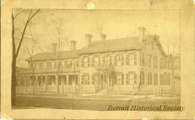 The storied Cass House was captured in this c. 1870 photograph.