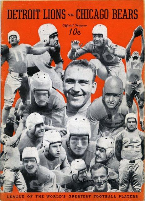 Bears - Lions 1936 program 1966057027
