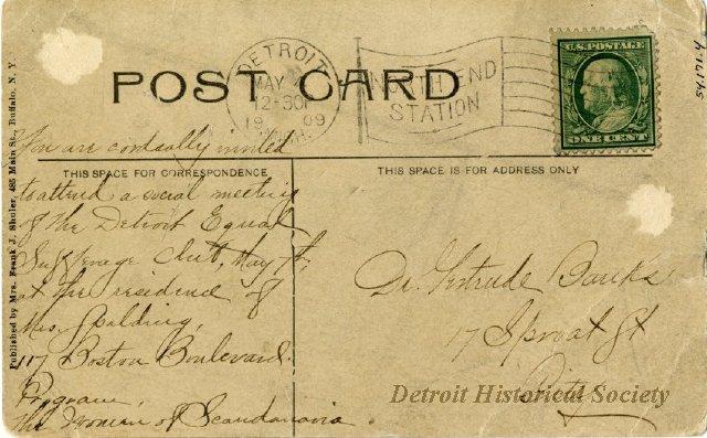 Banks postcard - address side 1954171001-2