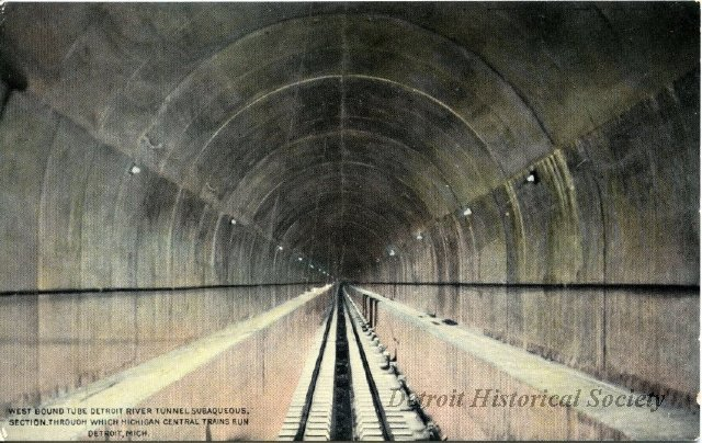MCR tunnel interior postcard 2012020668