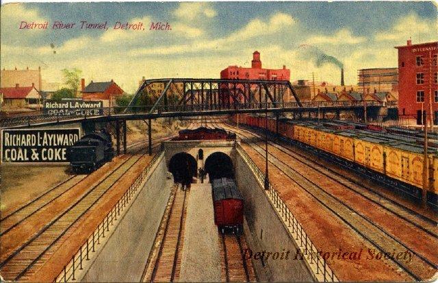 Tunnel Entrance Postcard orange tones 2012046840